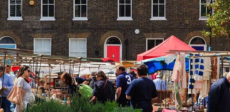 Tour of Bermondsey Antiques Market