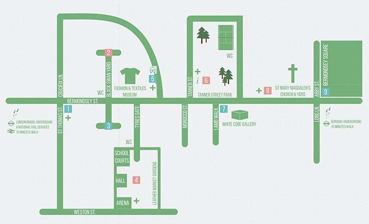 Bermondsey Street Festival Map 2014