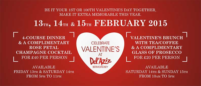 Celebrate Valentine's Weekend At Del'Aziz