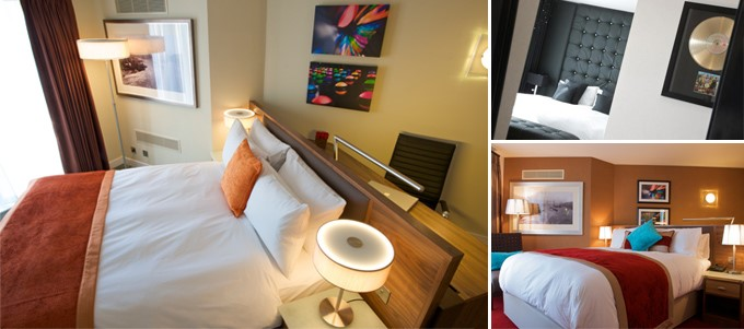 Bedrooms at Bermondsey Square Hotel